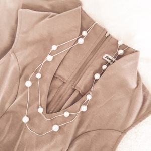 Jewelry - Pearl Silver Snake Chain Necklace